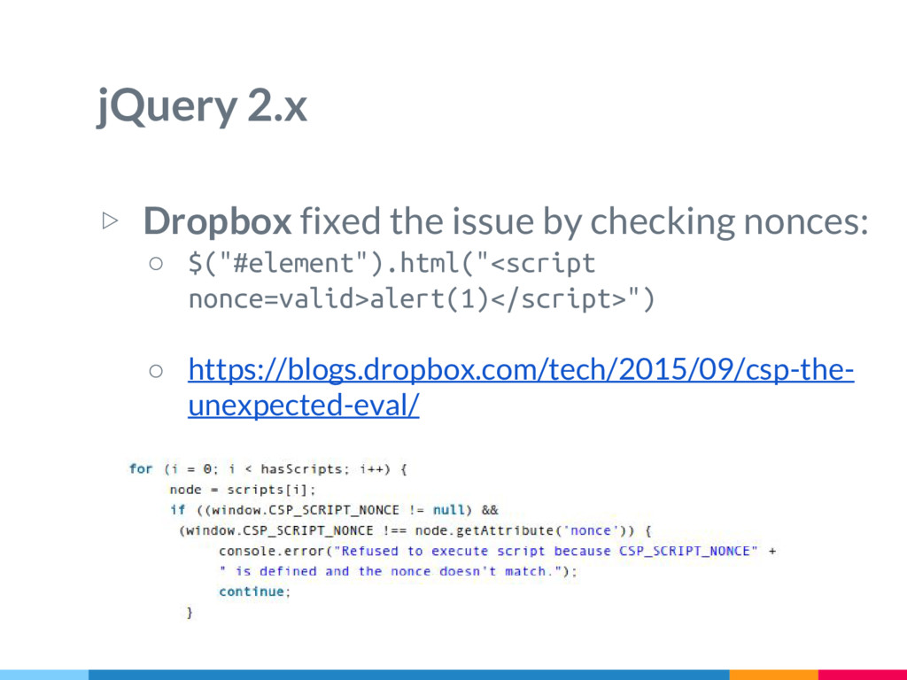 jQuery 2.x ▷ Dropbox fixed the issue by checkin...