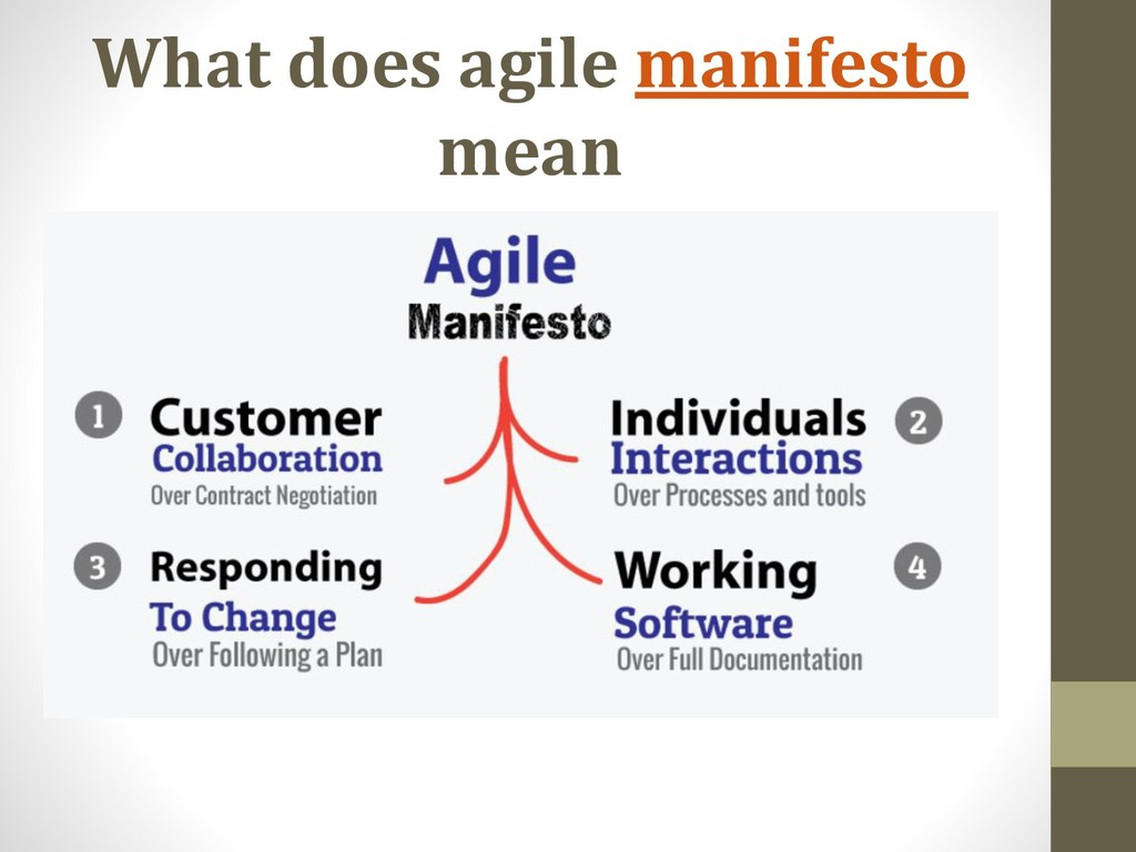 What does agile manifesto mean
