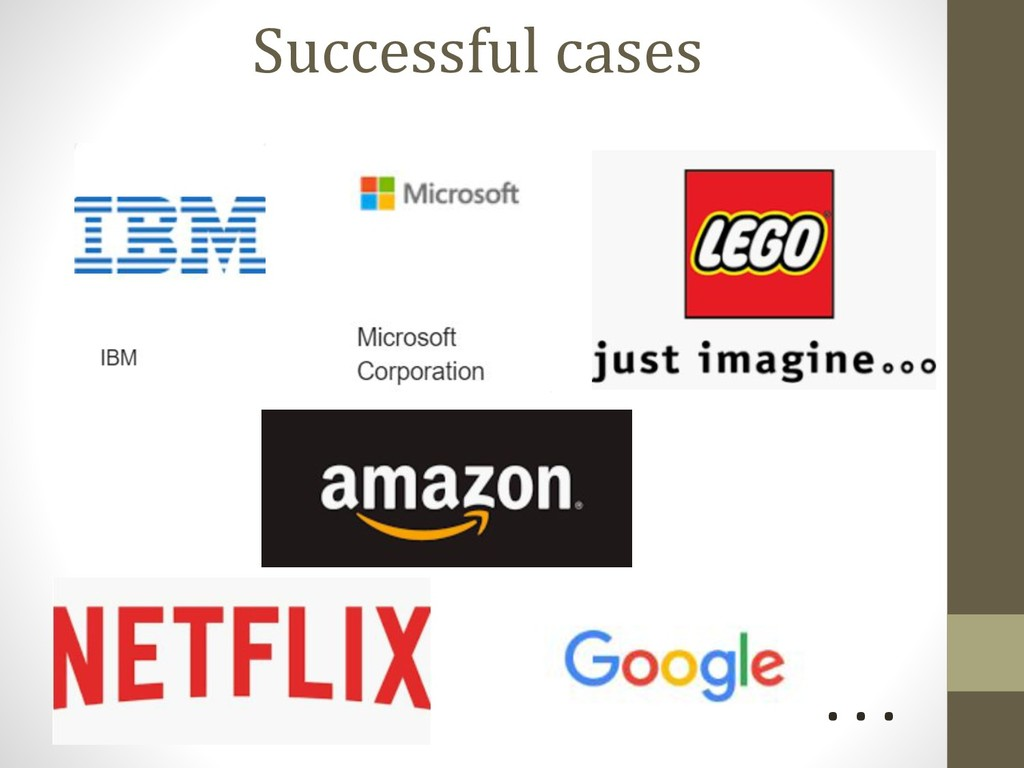 Successful cases . . .