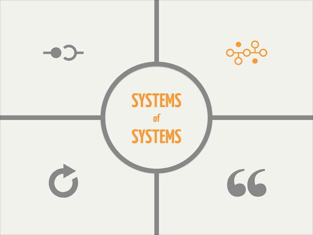 Ģ B ģ z SYSTEMS of SYSTEMS