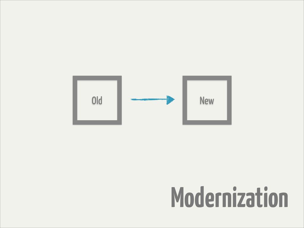 Modernization Old New