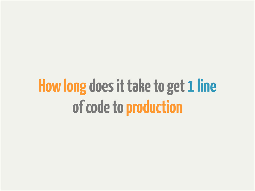 How long does it take to get 1 line of code to ...