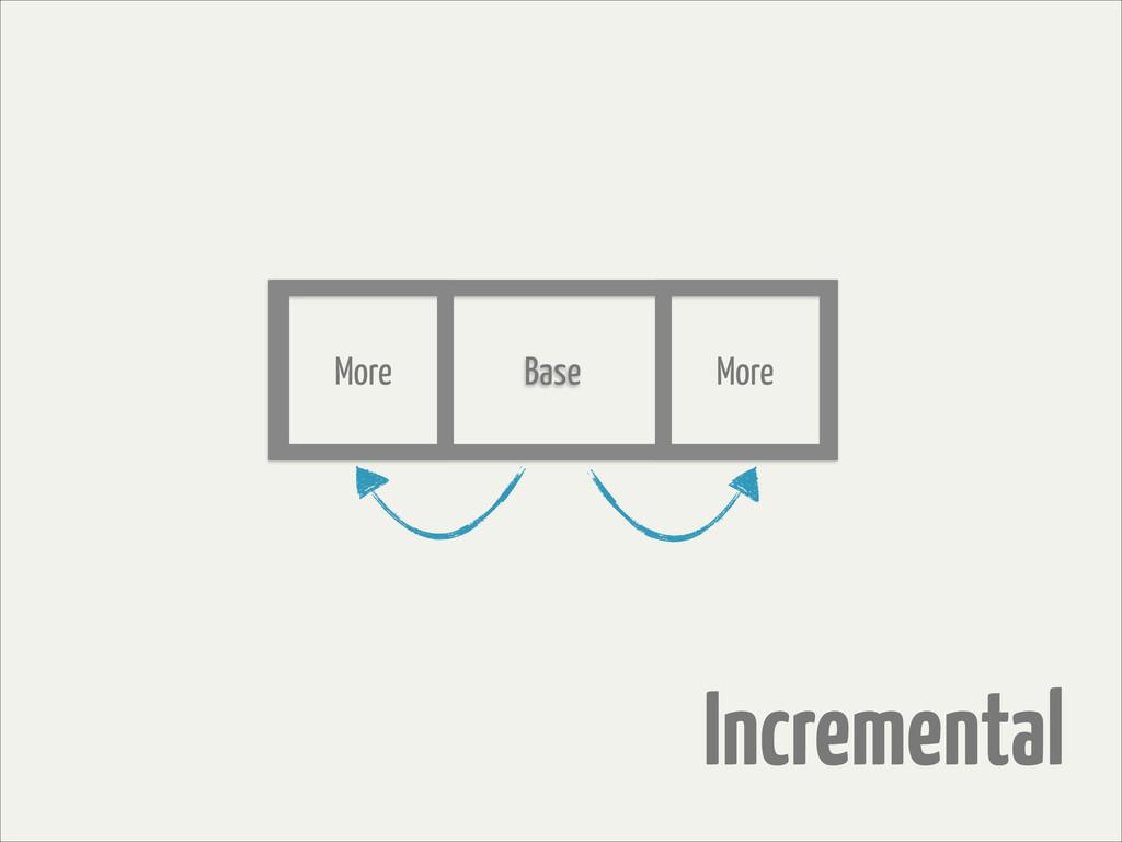 Incremental Base More More