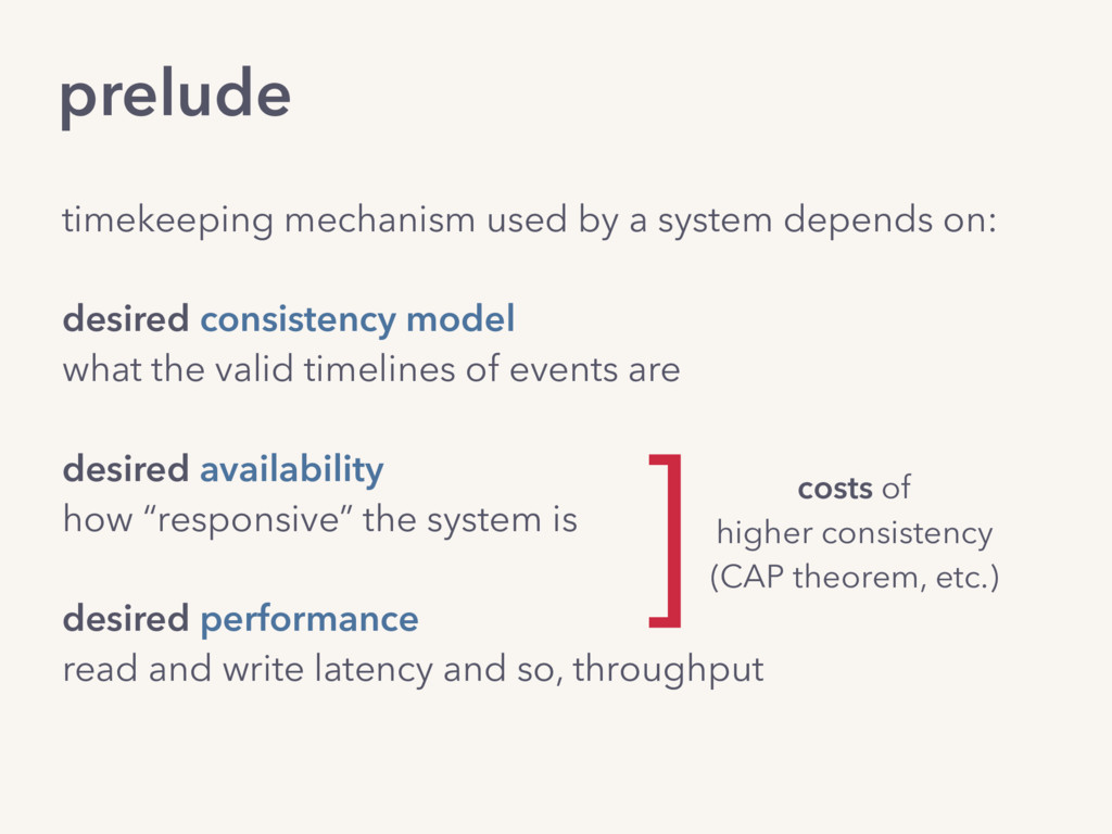 prelude timekeeping mechanism used by a system ...