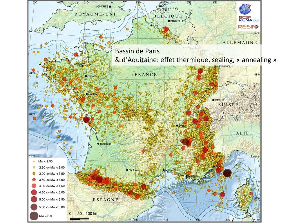 Bassin de Paris & d'Aquitaine: effet thermique,...