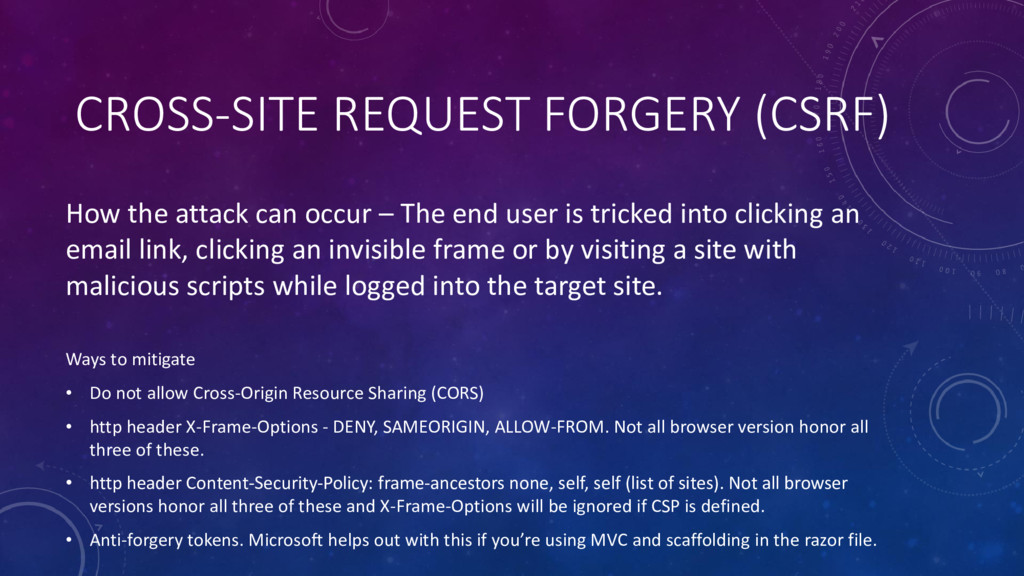CROSS-SITE REQUEST FORGERY (CSRF) How the attac...