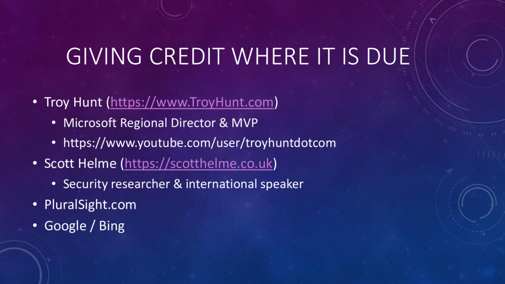 GIVING CREDIT WHERE IT IS DUE • Troy Hunt (http...