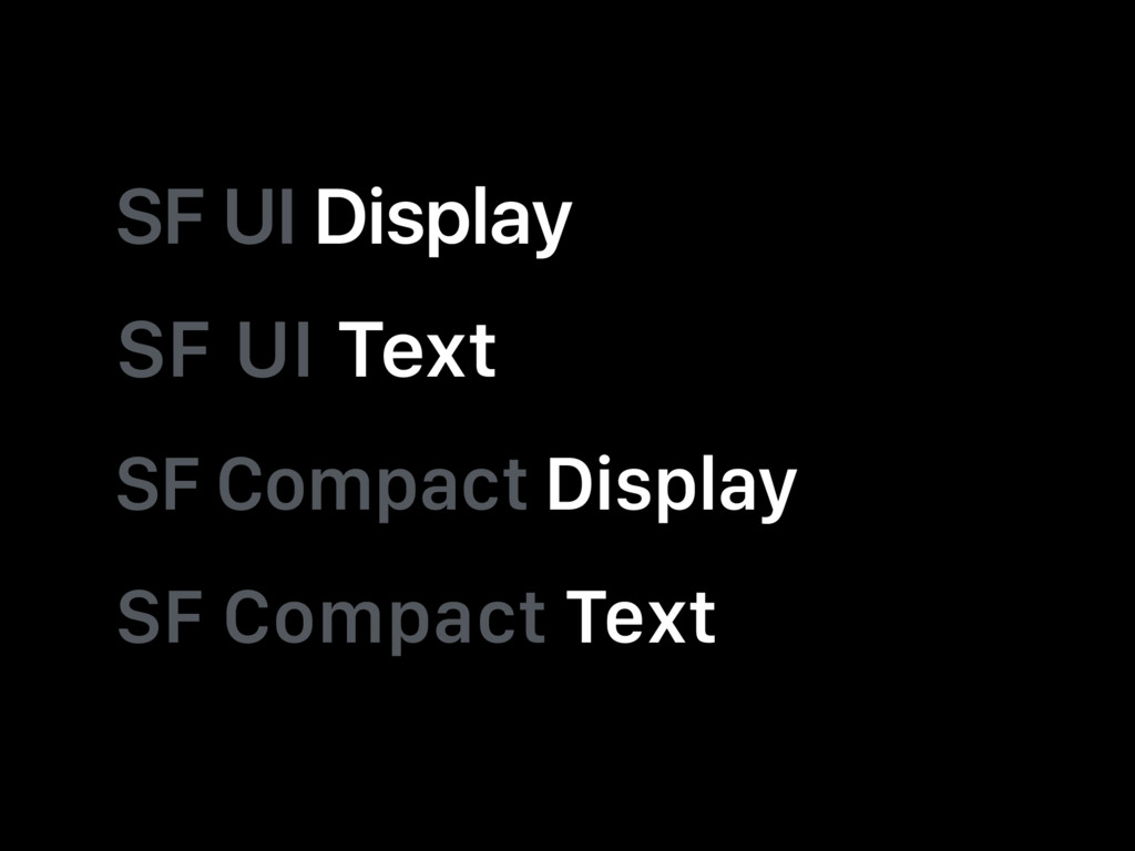 SF UI Display SF UI Text SF Compact Display SF ...