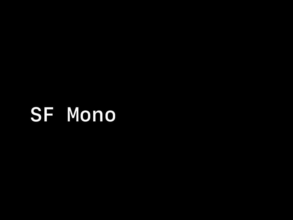 SF Mono