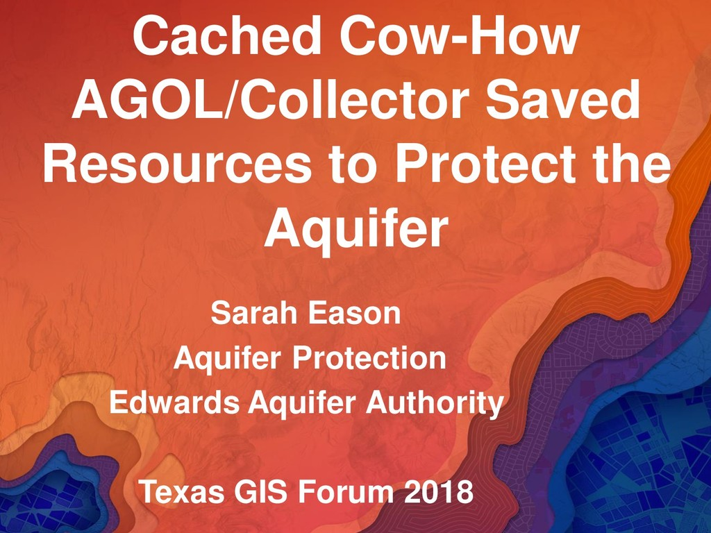 Cached Cow-How AGOL/Collector Saved Resources t...