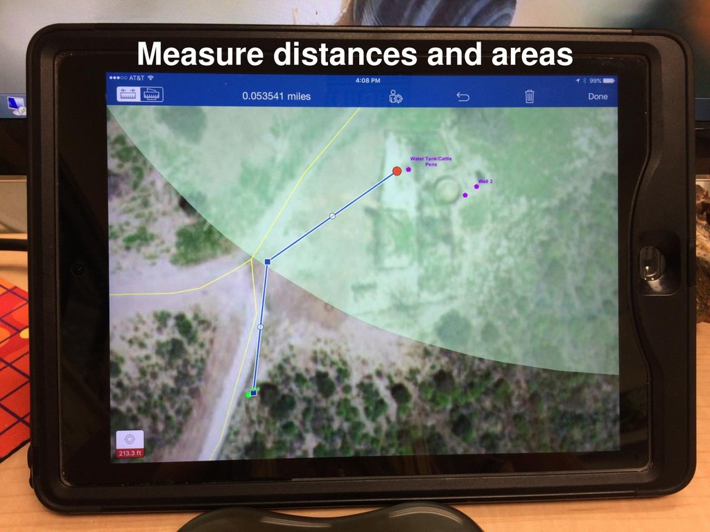 Measure distances and areas