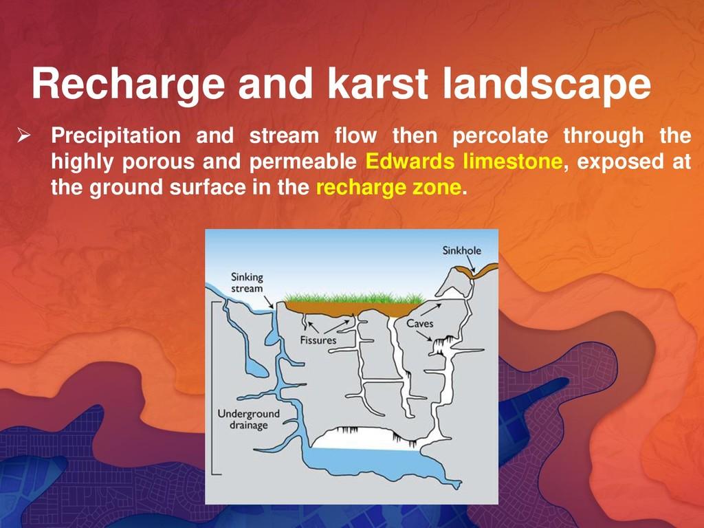 Recharge and karst landscape ➢ Precipitation an...