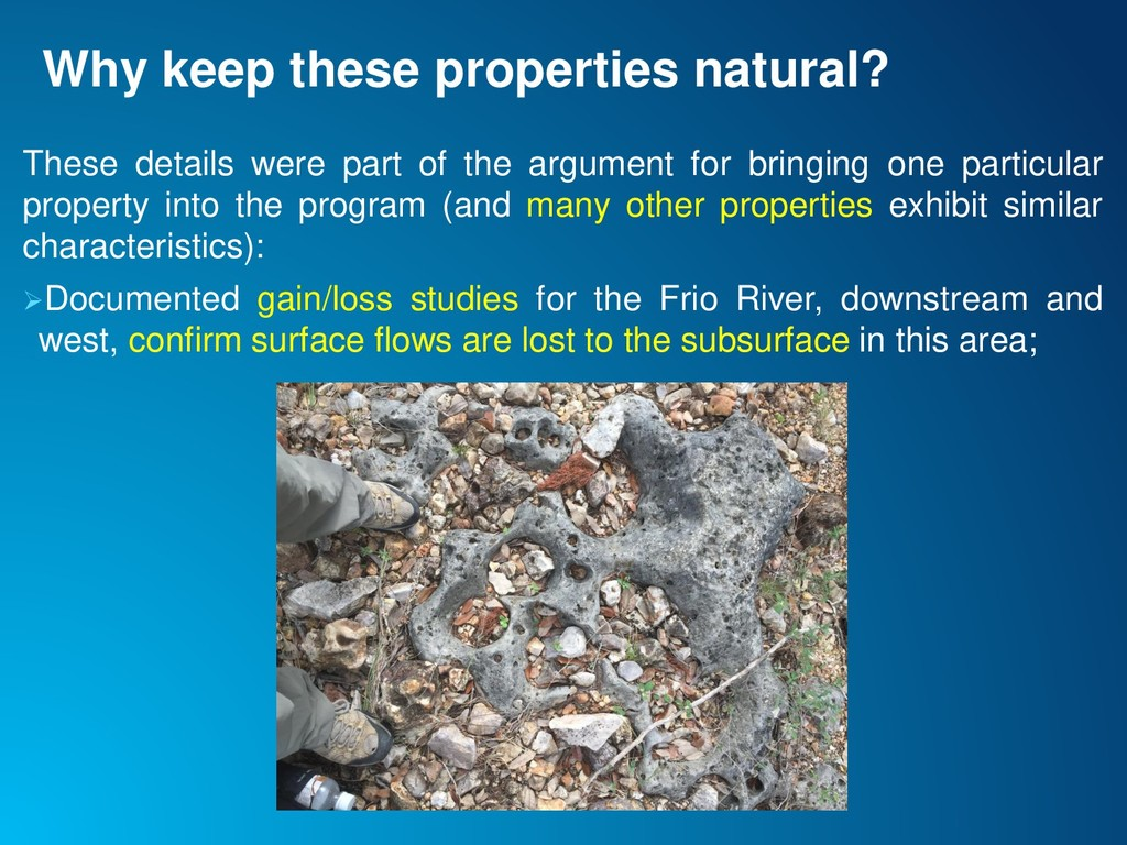 Why keep these properties natural? These detail...