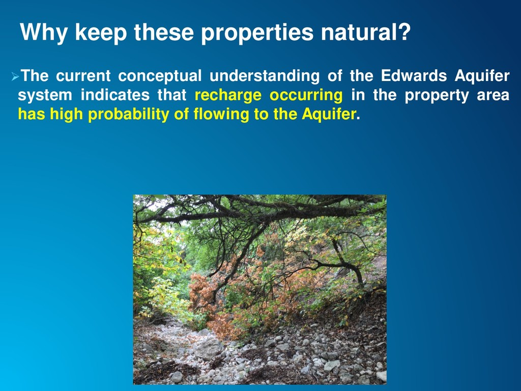 Why keep these properties natural? ➢The current...