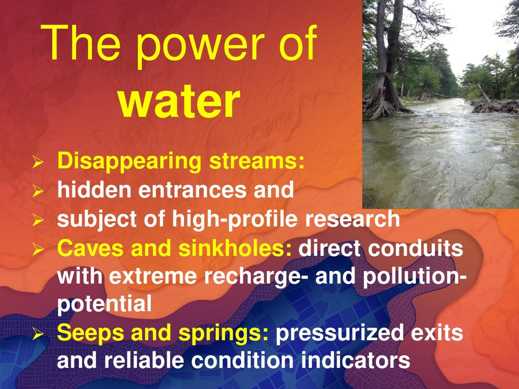 The power of water ➢ Disappearing streams: ➢ hi...