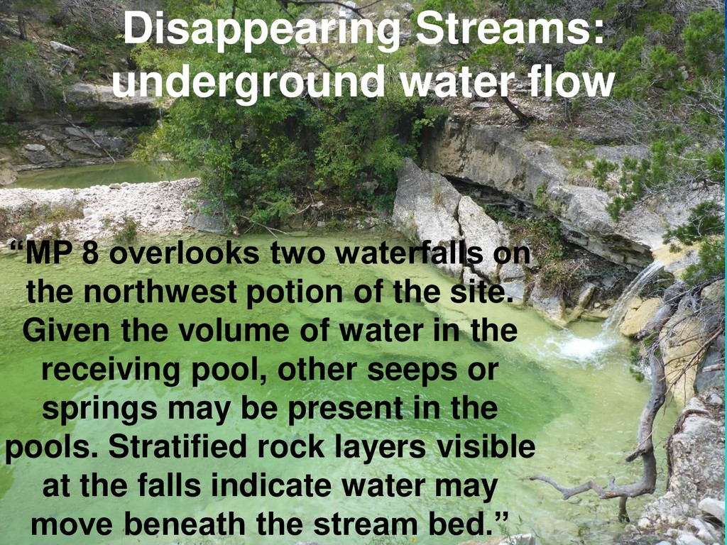 """Disappearing Streams: underground water flow """"M..."""