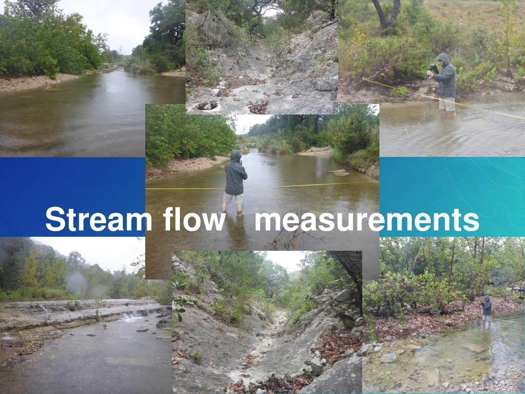 Stream flow measurements