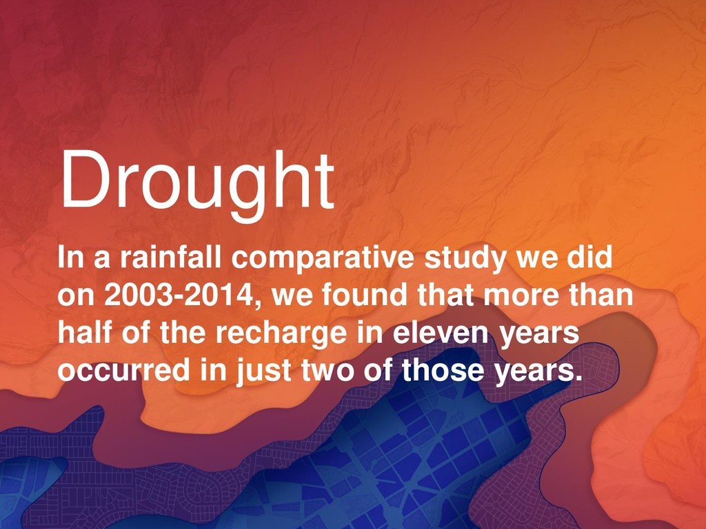 Drought In a rainfall comparative study we did ...