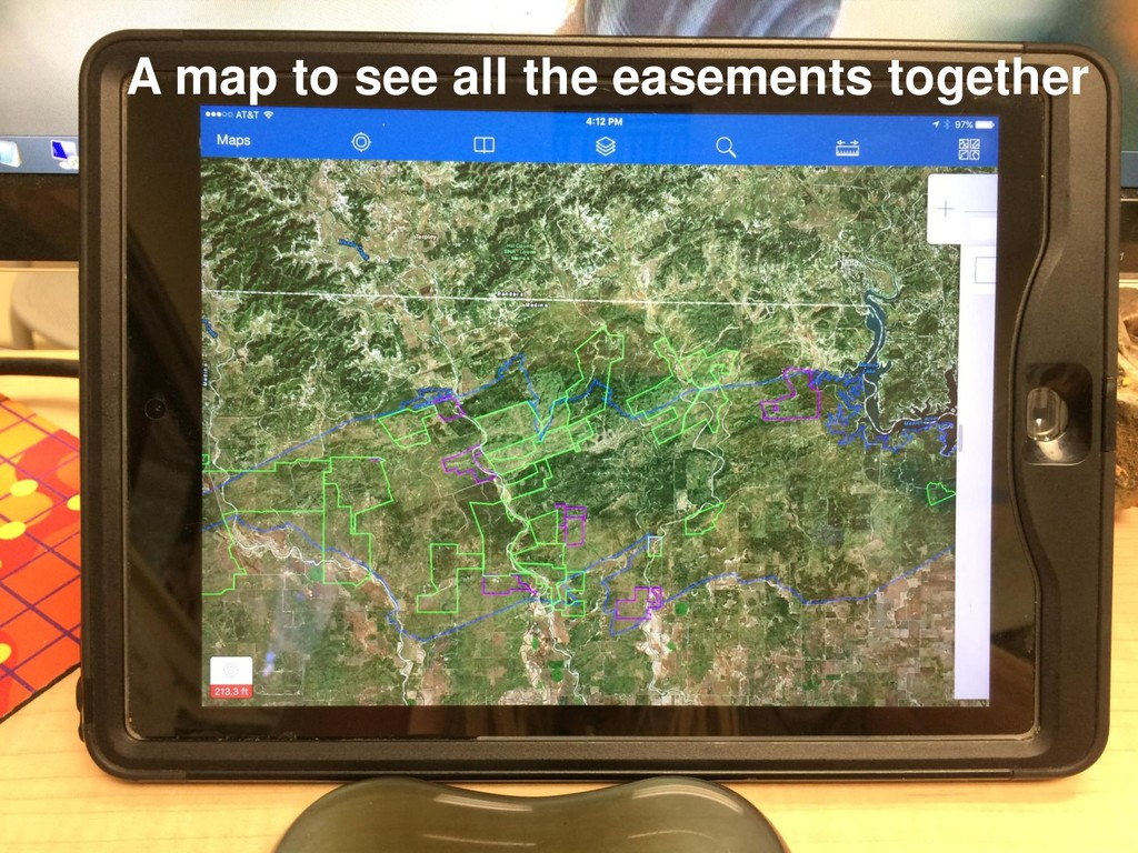 A map to see all the easements together
