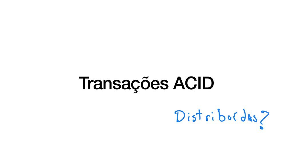 Transações ACID