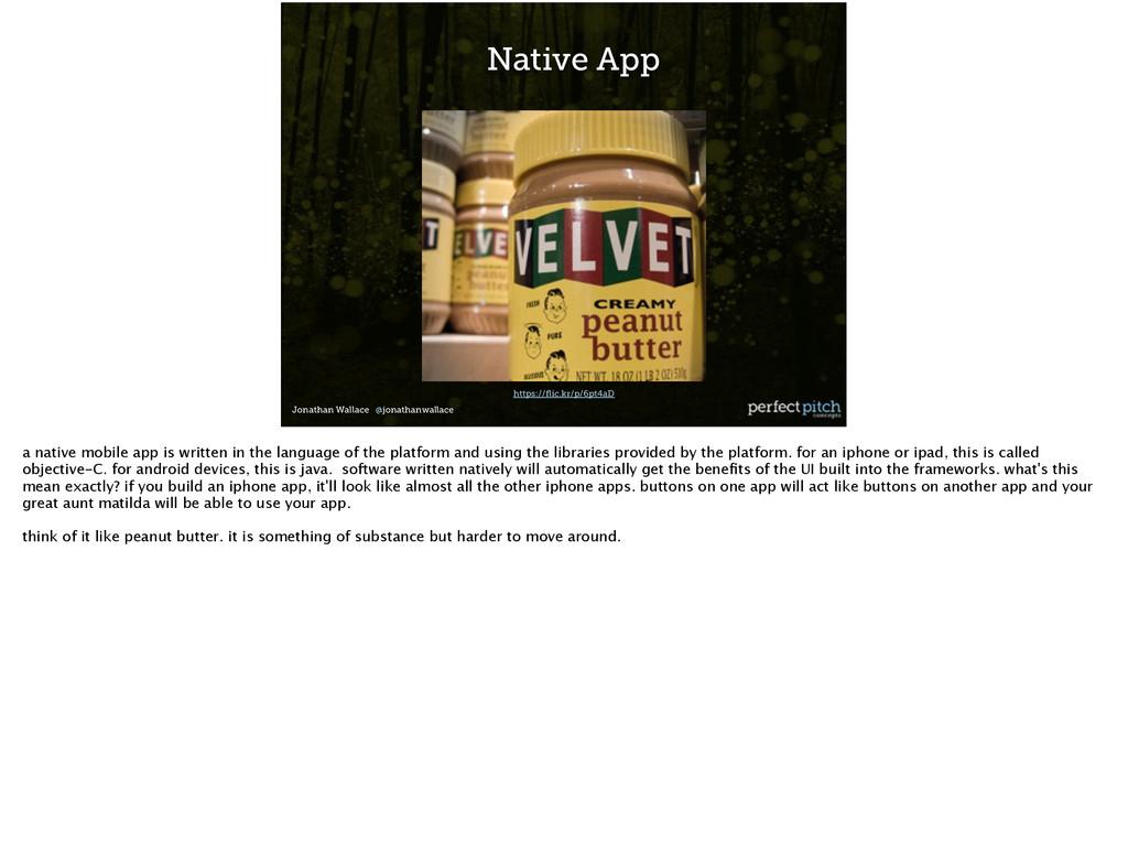 Jonathan Wallace @jonathanwallace Native App ht...