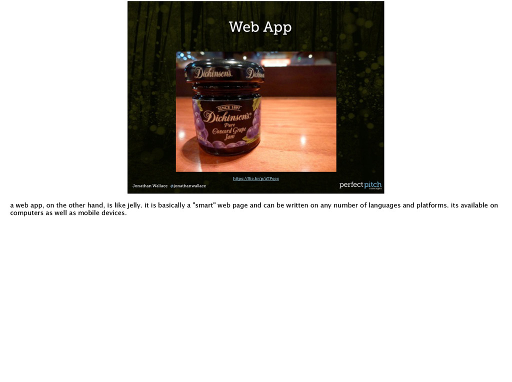 Jonathan Wallace @jonathanwallace Web App https...