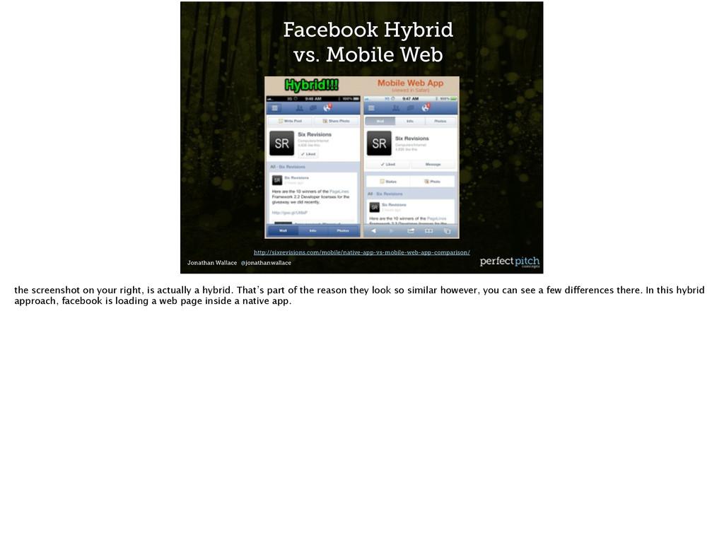 Jonathan Wallace @jonathanwallace Facebook Hybr...