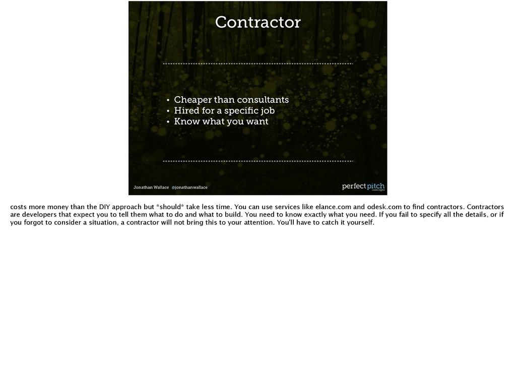 Jonathan Wallace @jonathanwallace Contractor ! ...