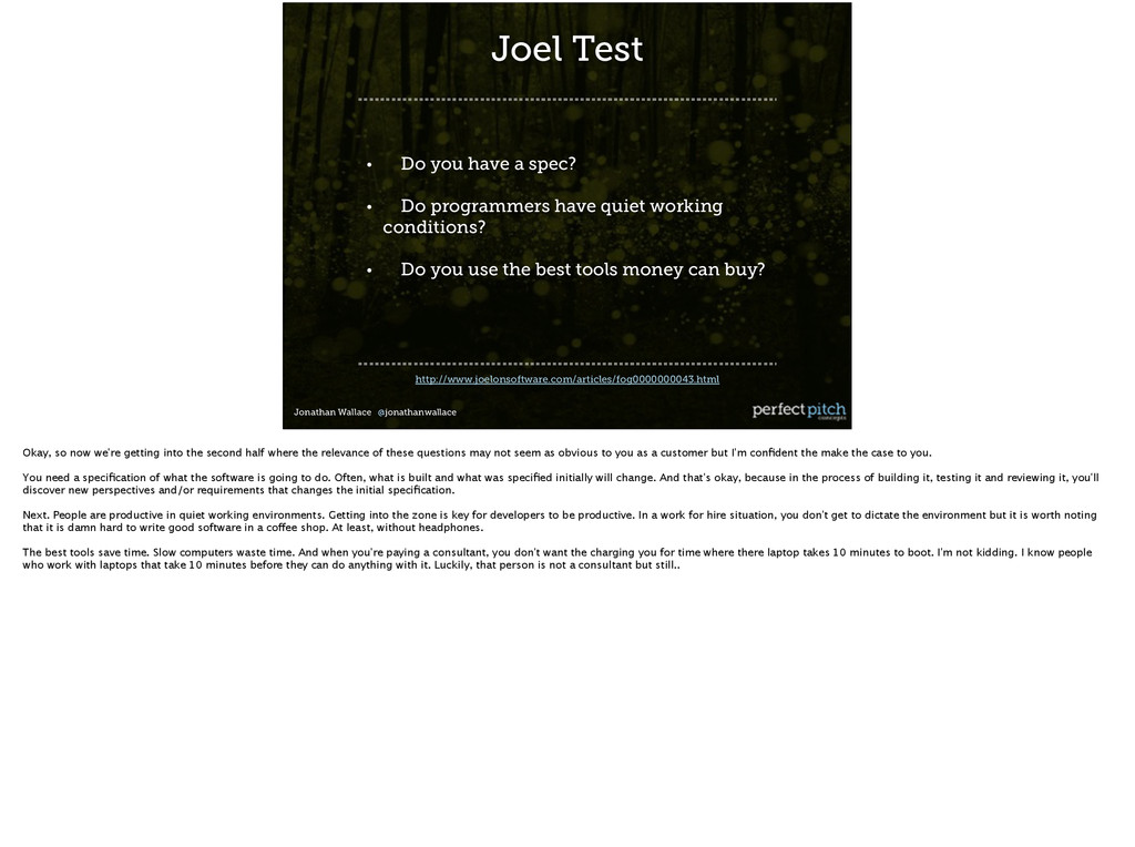 Jonathan Wallace @jonathanwallace http://www.jo...