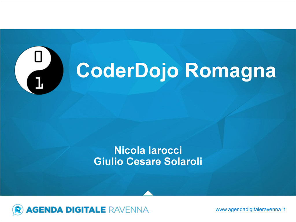 CoderDojo Romagna www.agendadigitaleravenna.it ...