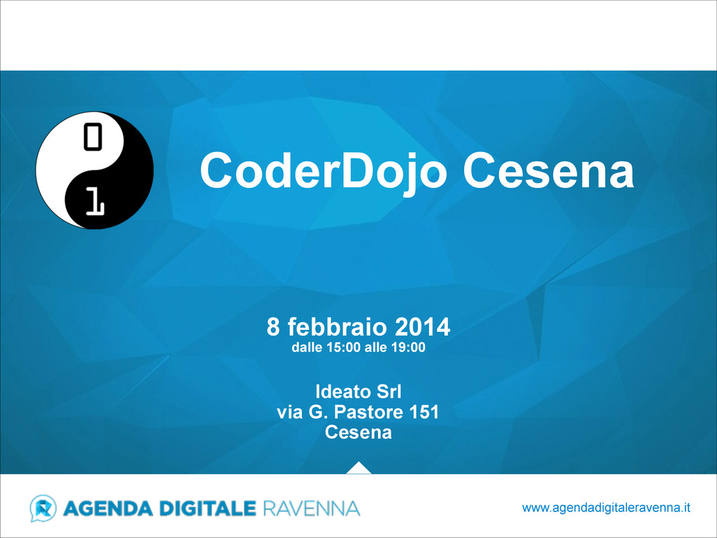 CoderDojo Cesena www.agendadigitaleravenna.it 8...