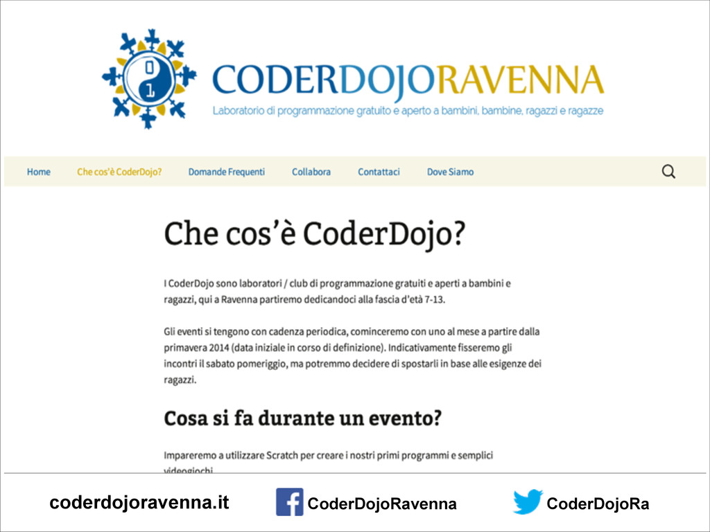 CoderDojoRa coderdojoravenna.it CoderDojoRavenna