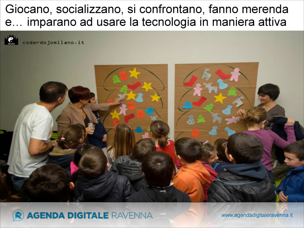 www.agendadigitaleravenna.it Giocano, socializz...