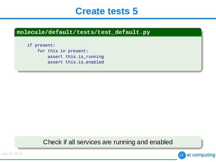Create tests 5 molecule/default/tests/test_defa...