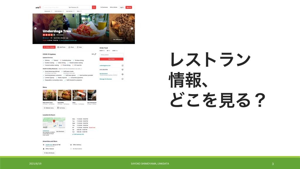2021/6/19 SAYOKO SHIMOYAMA, LINKDATA 3 Ϩετϥϯ ใ...