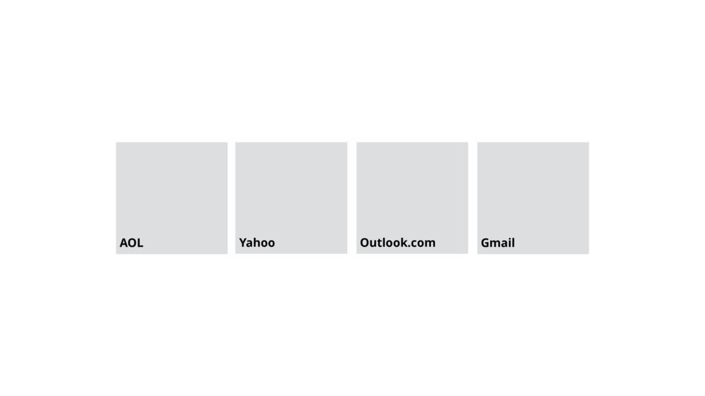 AOL Yahoo Outlook.com Gmail