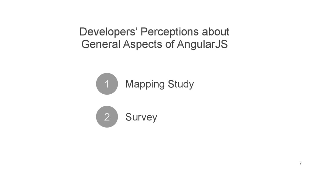 Developers' Perceptions about General Aspects o...