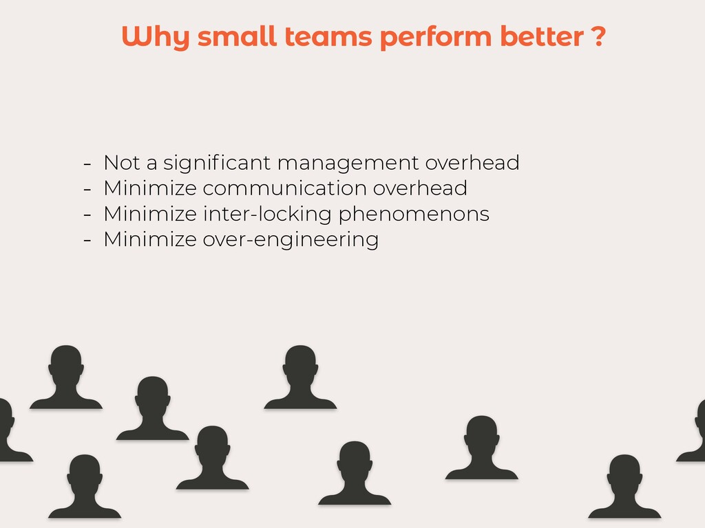 Why small teams perform better ? - Not a signi ...