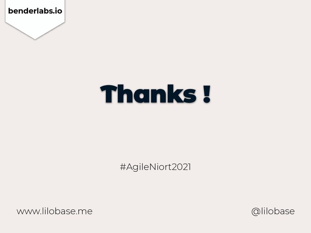 www.lilobase.me Thanks ! @lilobase #AgileNiort2...