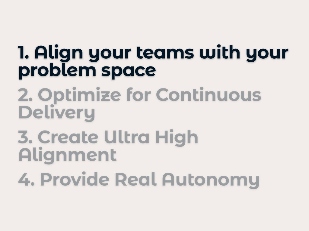 1. Align your teams with your problem space   2...