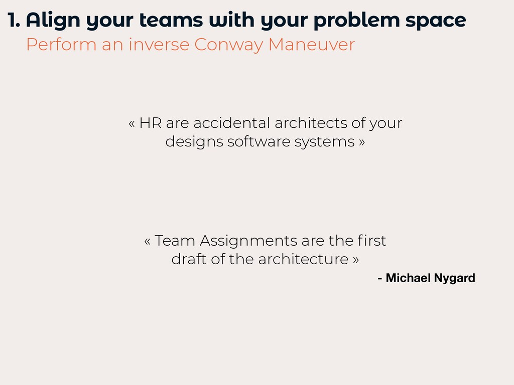 1. Align your teams with your problem space   P...