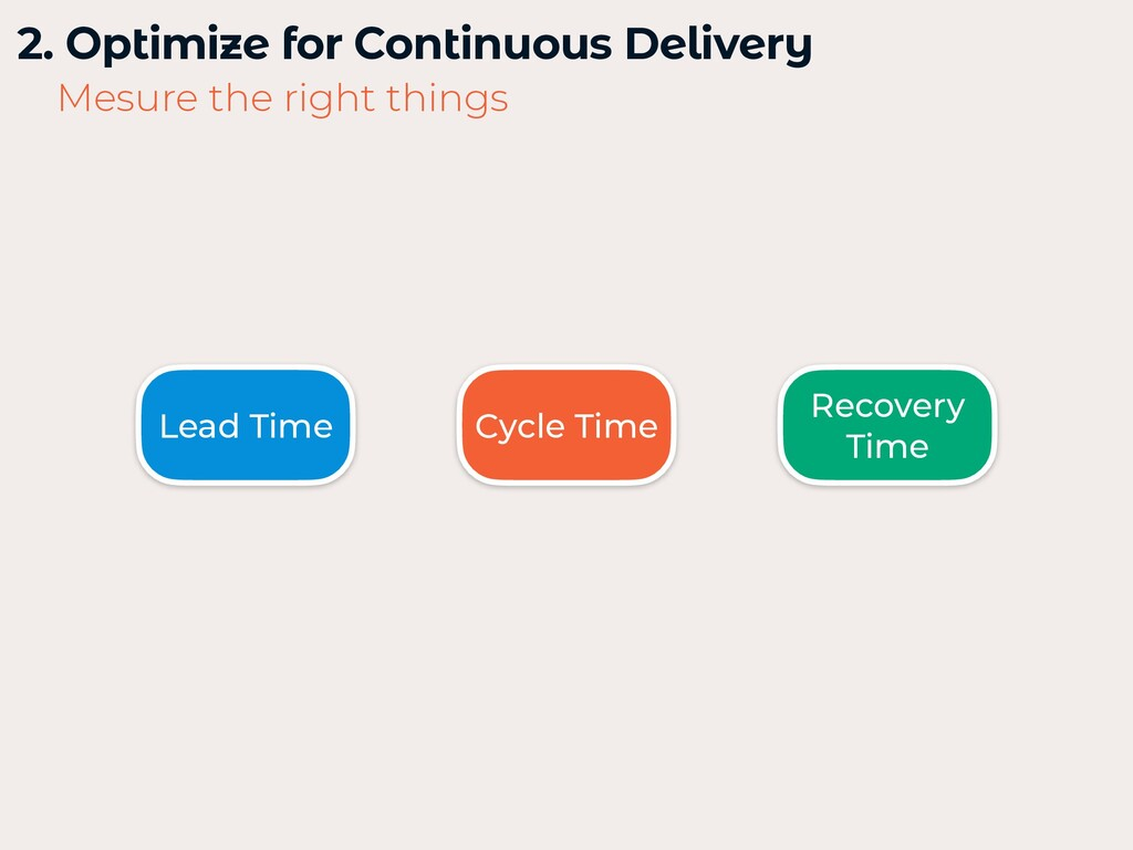 2. Optimize for Continuous Delivery   Mesure th...