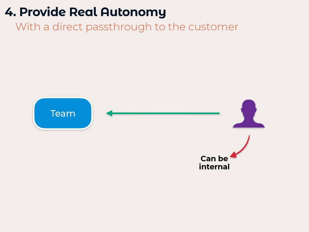 4. Provide Real Autonomy   With a direct passth...