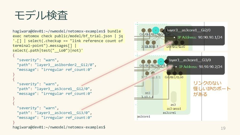 モデル検査 19 hagiwara@dev01:~/nwmodel/netomox-examp...