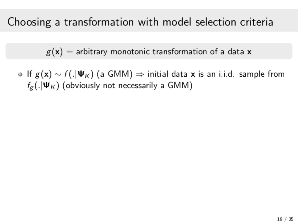 Choosing a transformation with model selection ...