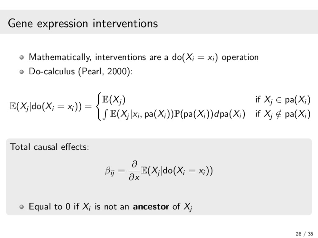 Gene expression interventions Mathematically, i...