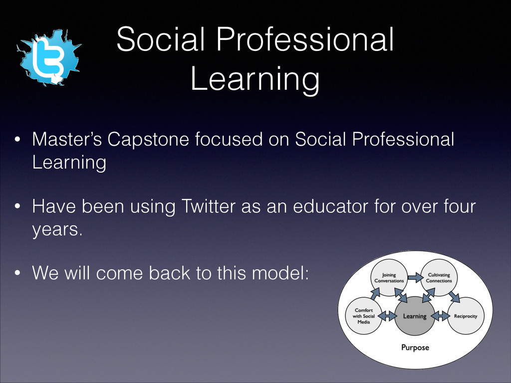 Social Professional Learning • Master's Capston...