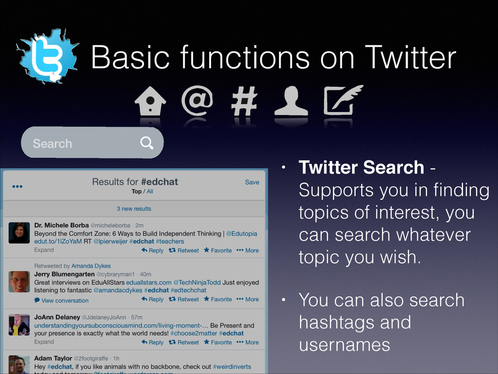 Basic functions on Twitter • Twitter Search - S...