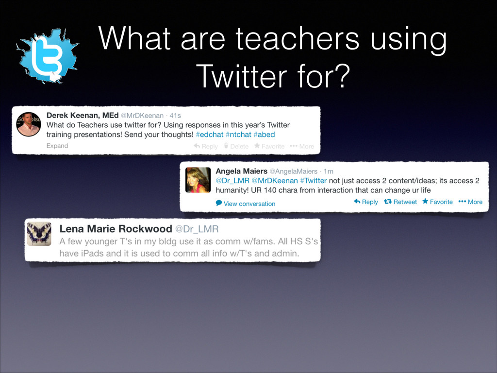 What are teachers using Twitter for?