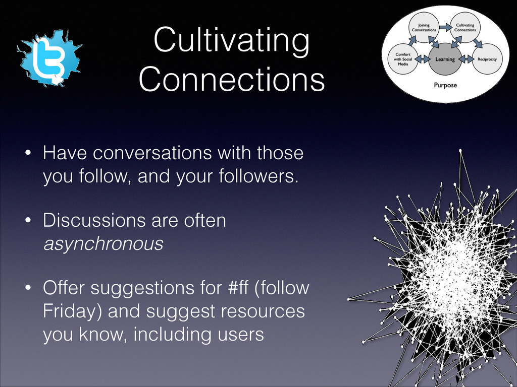 Cultivating Connections • Have conversations wi...